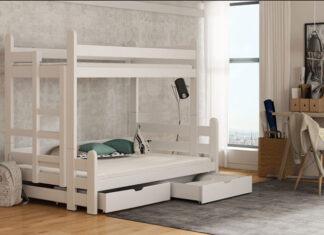 Aranżacja miejsca do spania dla trójki dzieci